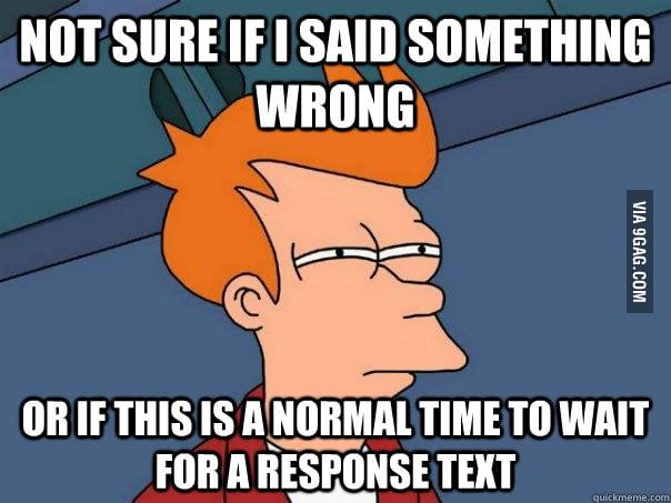 I hate texting girls.