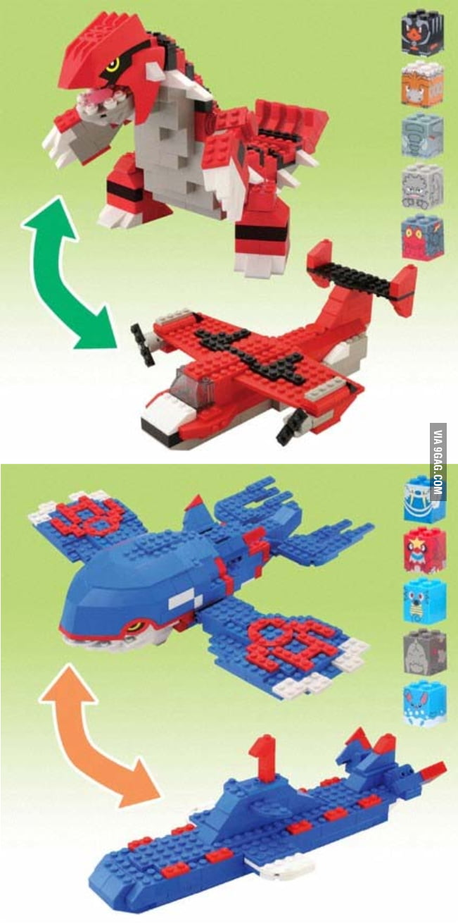 Mega Bloks Groudon and Kyogre