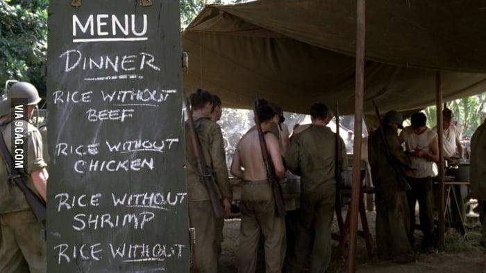 Mealtime at war - it all makes sense