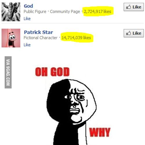 God Vs. Patrick Star