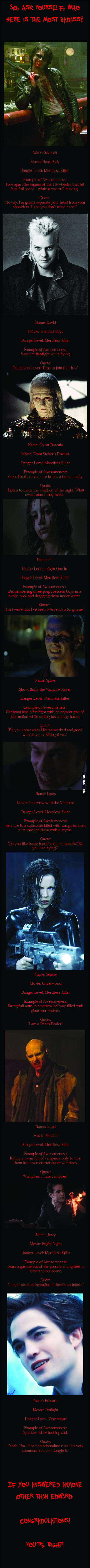Choose Your Vampire
