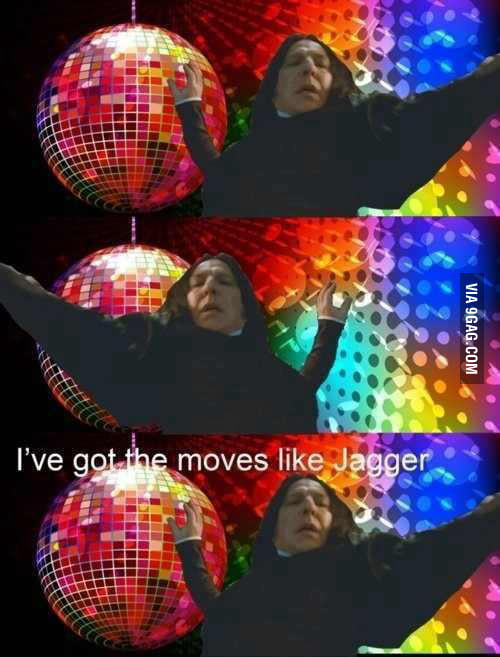 Just Snape dancing