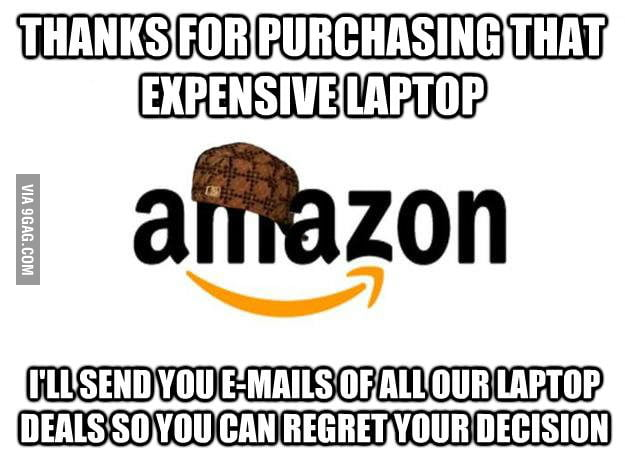 I bought a laptop from Amazon...