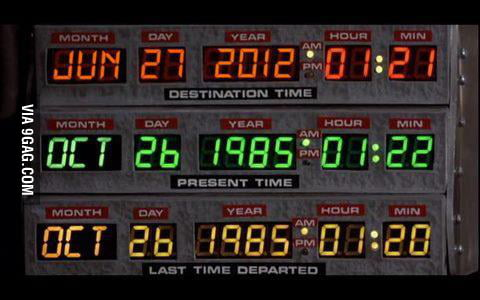 Doc sets the DeLorean to a future date? That date is today!