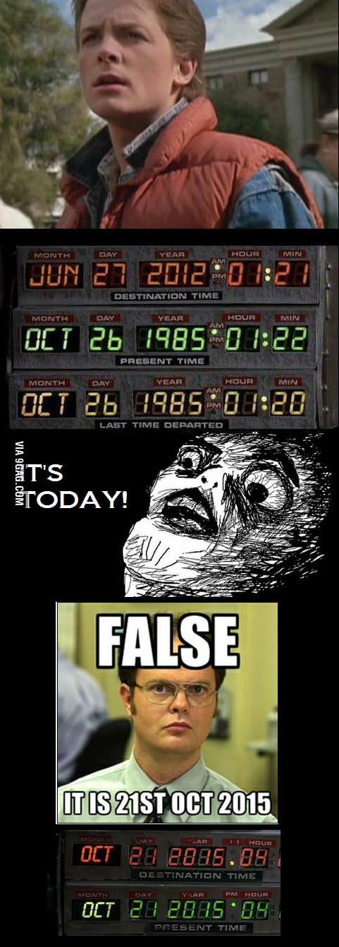 Back to the future 27JUN12 what?! False! It's 21OCT15