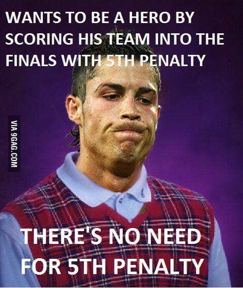 Bad Luck Ronaldo...