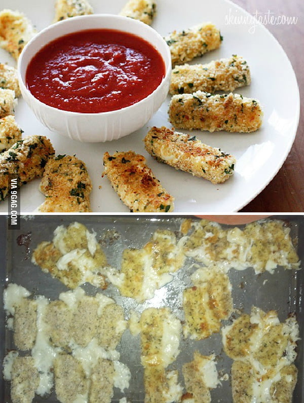 GF tried to make mozzarella sticks from an online recipe...