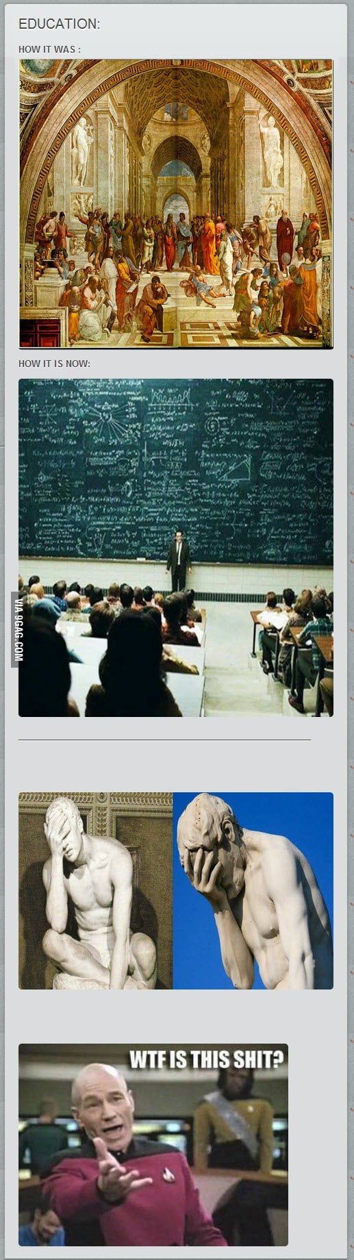 EDUCATION: WTF happened ?
