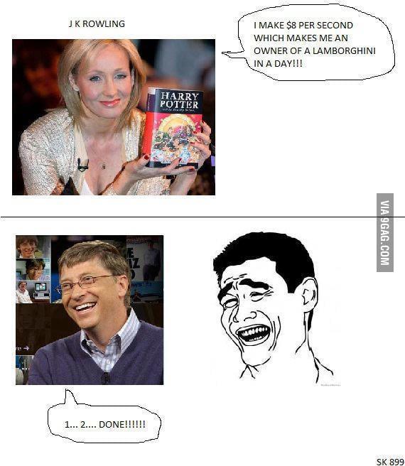 Gates Vs Rowling (1...2...DONE!)
