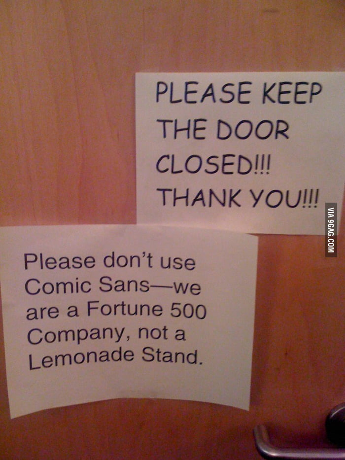 We are a Fortune 500 Company, not a Lemonade Stand.