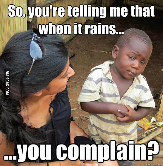 3rd World Skeptical Child about rain