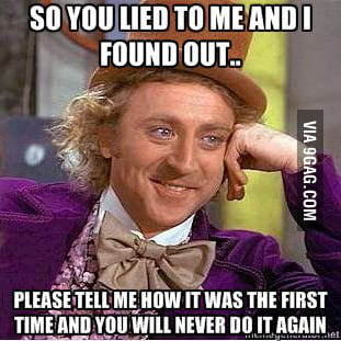 Willy wonka telling the truth