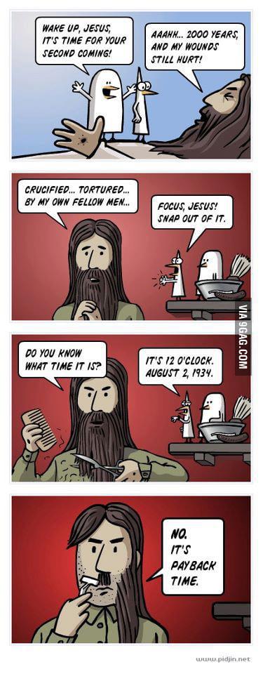 Jesus payback time! - 9GAG