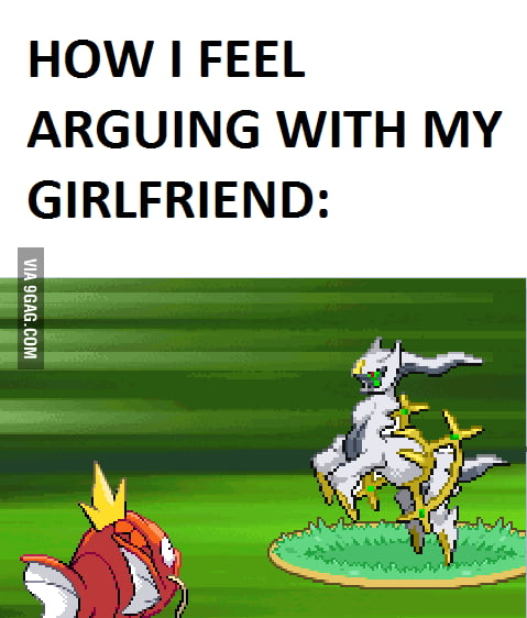 Arguing with girlfriend...