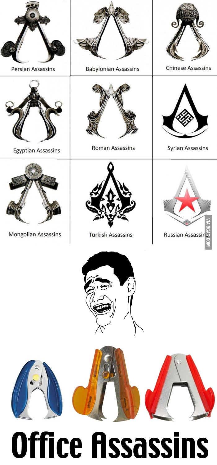 Assassins Symbols... in the office!