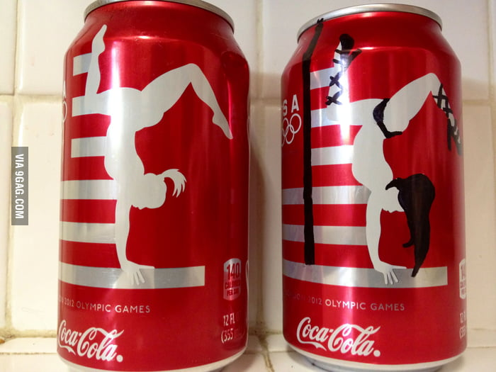 There're strippers on coke cans now