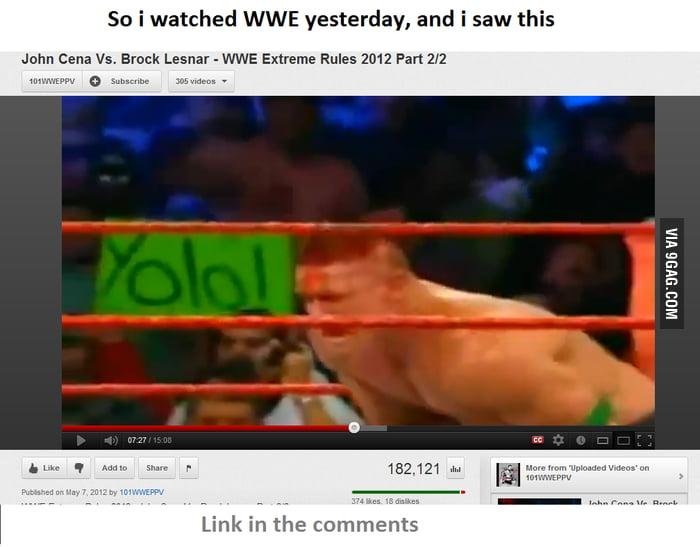 YOLO at WWE