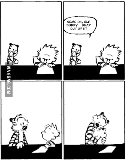 The last ever Calvin & Hobbes Comic.. I got somethin´ 4 that