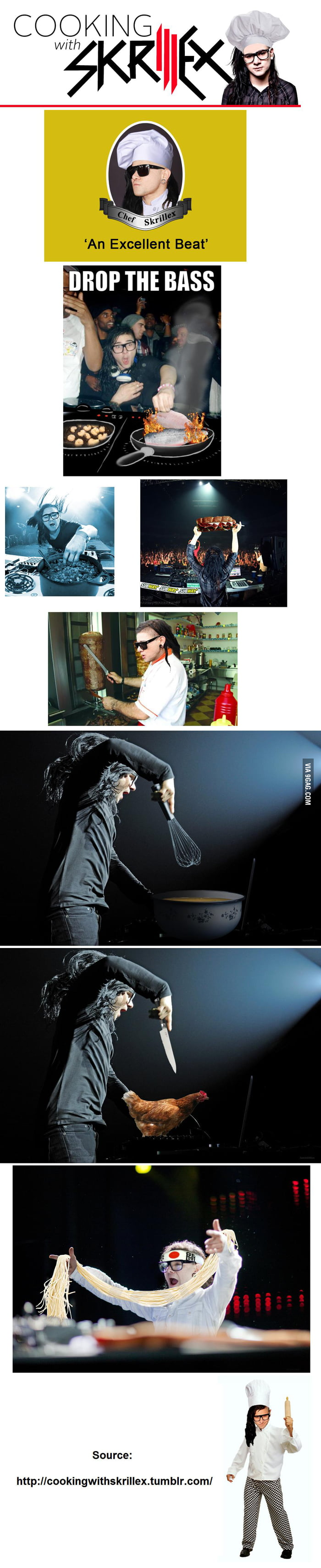 "Some ""Cooking with Skrillex"" pics"