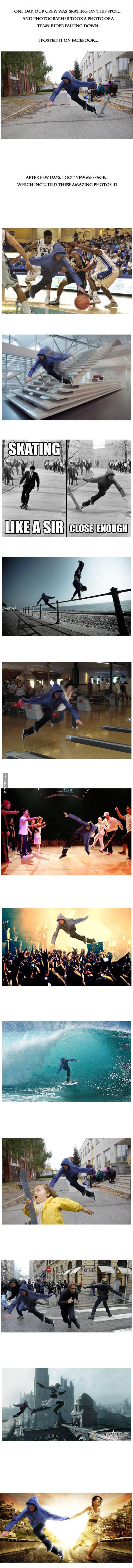 Photoshop meets skateboarding