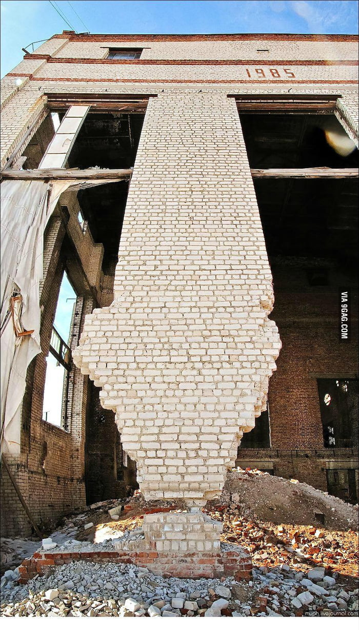 On a single brick