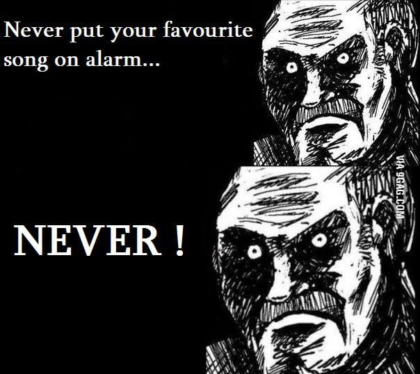 Never put it