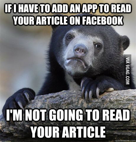 Confession bear on social news on Facebook