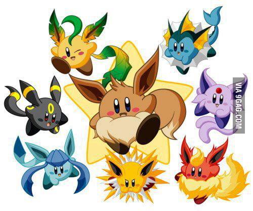 Looks like Kirby swallow some pokemon