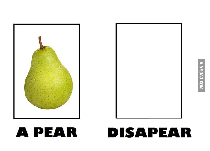 A Pear dissapear