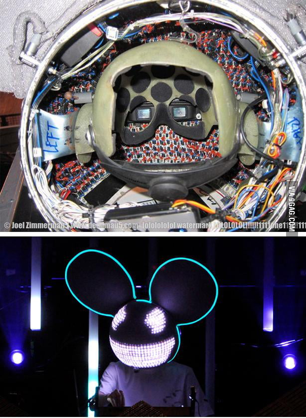 A look inside Deadmau5's helmet