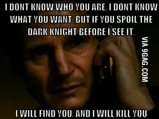 If you spoil batman