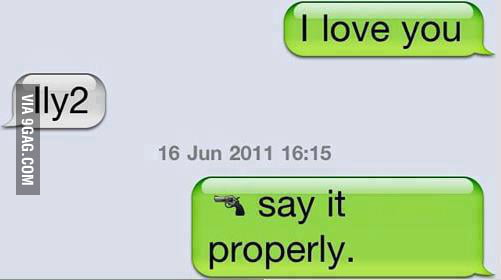 Say it properly...