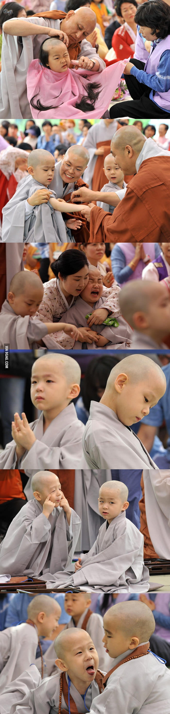 Novice monks in Korea