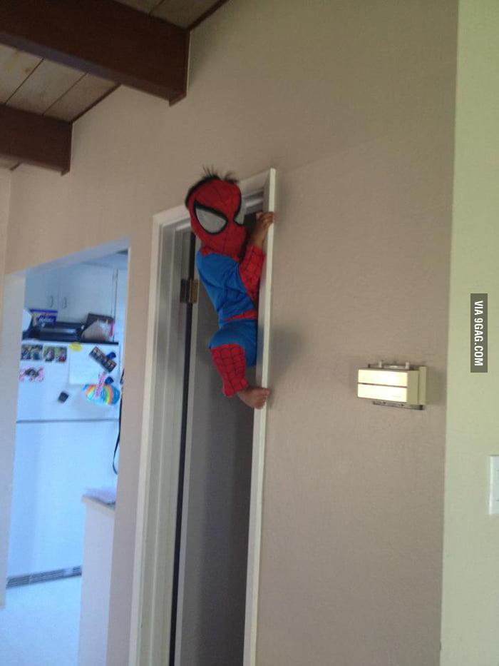 Babysitting Spiderman today...