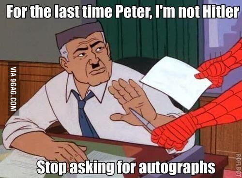 Stop it, Spidey.