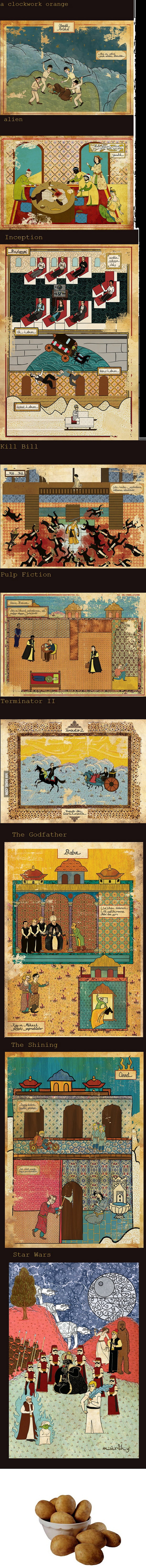 Famous movies in ancient turkish style!