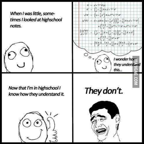 High school students will know...