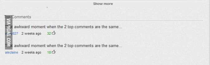 Youtube top comment win