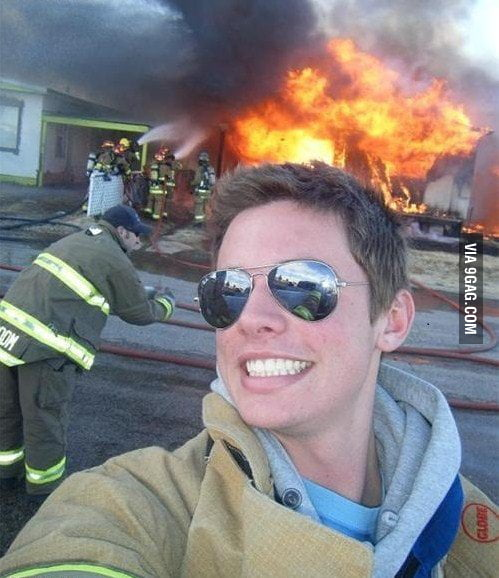 Ridiculously photogenic fireman