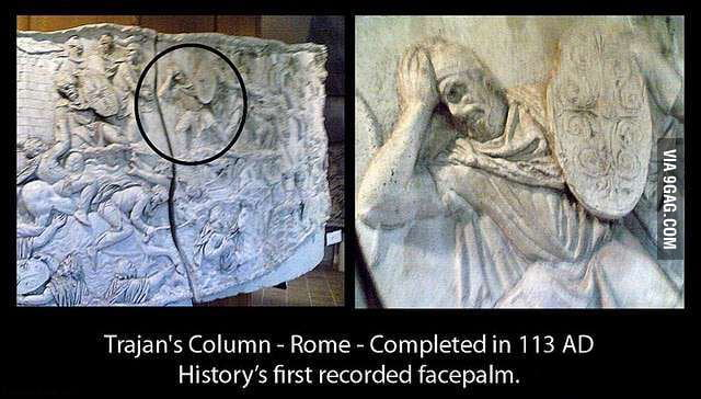 The very first facepalm
