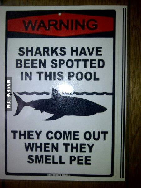 This is posted at the city pool. The children now live in fe