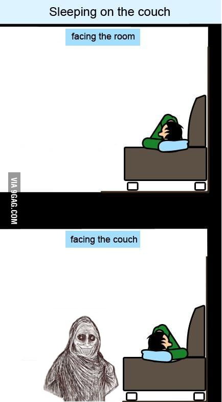Sleeping on the couch