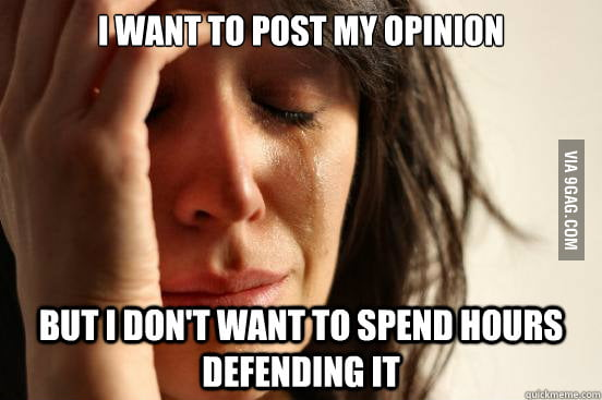 Whenever I see a political/religious post on the Internet