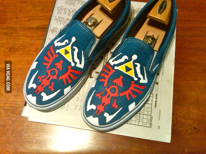 Handpainted Zelda Shoes