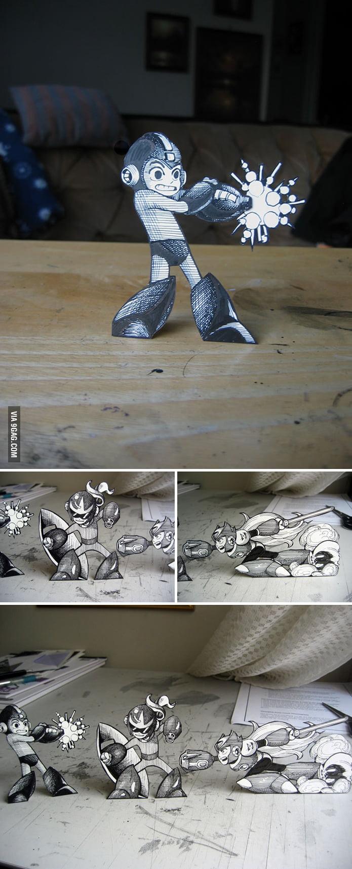 Paper Mega Man