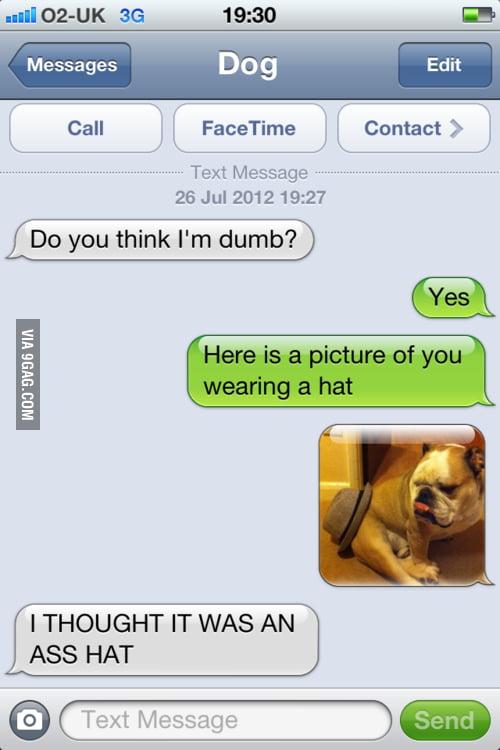 Do you think I'm dumb?