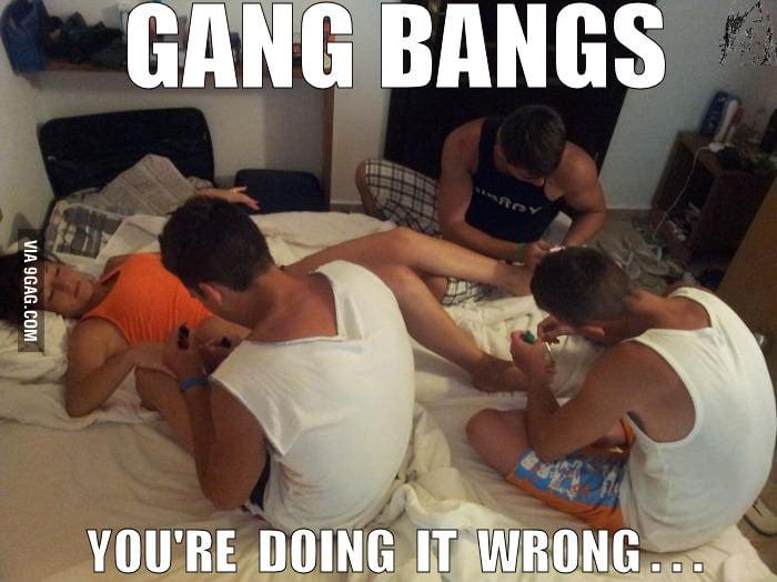 Opinion you gang bang jokes think