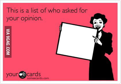 Your Opinion..