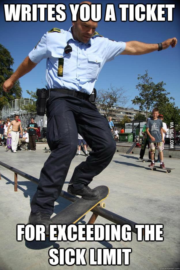 Skateboard Cop Won't Let You Off With A Warning