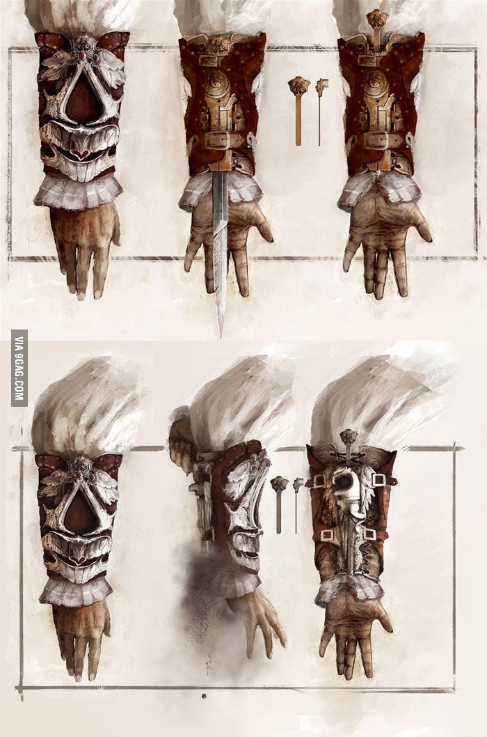 Assassins Creed II Hidden Blade and Hidden Gun Concepts